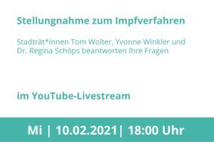 Stellungnahme zum Impfverfahren im YouTube-Livestream